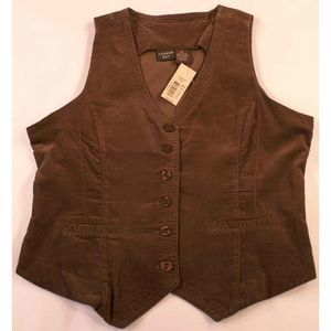 Copper Key XL Corduroy Vest Olive Green NWT
